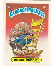 "1985 GARBAGE PAIL KIDS ORIGINAL 1ST SERIES ""ROCKIN'ROBERT"" #35b STICKER ... - $7.69"