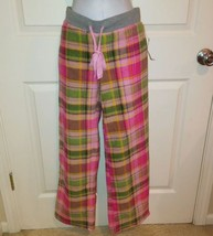 7bd5e6c7ea94 JENNI by JENNIFER MOORE pink plaid fleece sleepwear lounge pant Size Small  - $14.99