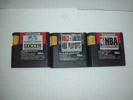 Sega Genesis International Soccer,Bulls vs Lakers NBA Playoffs,NBA Showd... - $9.49