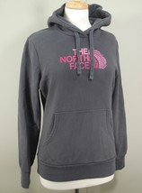 The North Face Women's Hoodie Hooded Sweatshirt - Gray with Pink Logo - ... - $34.64
