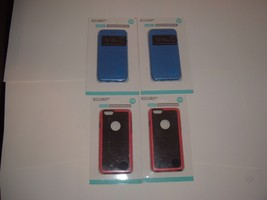 NEW Accellorize iPhone 6 (Lot of 4) Protective Phone Cases, 2 pink,2 blue) - $15.78