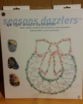 Seasons Dazzlers Lighted Wreath Bow Christmas Window Silhouette Decorati... - $33.65