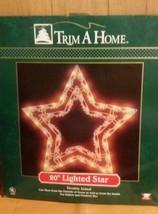 "Vintage 20""Lighted Star Christmas Window Silhou... - $33.65"