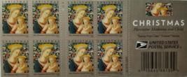 Christmas Florentine Madonna and Child First Class (USPS) FOREVER STAMPS 20 - $13.95