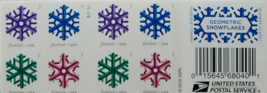 Geometric Snowflakes First Class (USPS) FOREVER STAMPS 20 - $13.95