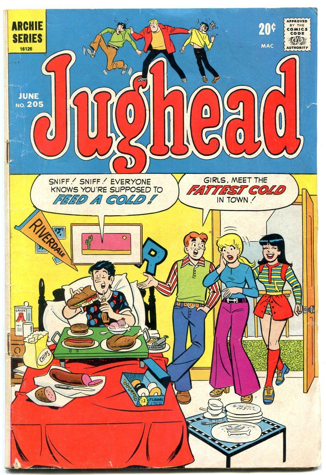Jughead Comics #205 1972- Archie- Betty & Veronica VG