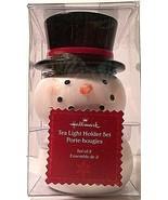 Hallmark 3 pc. Snowman Tea Light Holder Set NIB - $9.99
