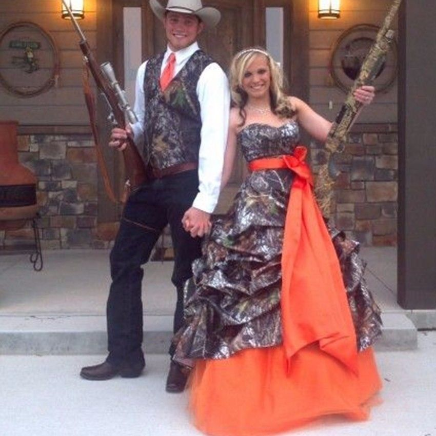 Cinderella Wedding Dress Up Games Online White Camo: New Camo Wedding Dress Ball Gown Orange And 50 Similar Items