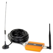 "2G 3G 4G Cell Phone Lightning-Proof Signal Booster with 0.6"" LCD Golden ... - $31.50"