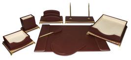 Majestic Goods Burgundy And Gold Executive Office Desk Set  - €120,79 EUR