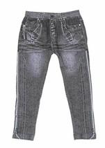 Crush Girls 4/6X Skinny Seamless Faded Denim Print Jegging Leggings Pants Black