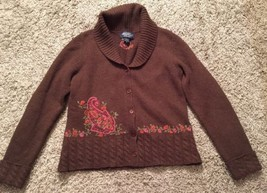 Eddie Bauer Collectibles Women's 100% Lambswool Brown Sweater, Size M - $28.99