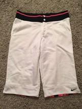 Nike White Fit Dry Shorts/ Workout Pants, Size M - $19.98