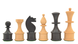 "Reproduced Vintage Soviet Chess Set in Stained Dyed/Box Wood-3.5"" King R0309 - $154.99"