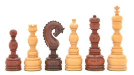"Luxury Handcrafted Tower Series Chess Pieces in Bud Rose/Box Wood-5"" King VJ088 - $475.99"