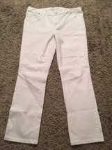 Michael Kors Women's Flat Front White Pants/Jeans, Size 8 - $27.99