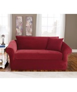 New Sure Fit Stretch Pique 3-Piece Sofa Slipcovers Variety Colors - $139.99