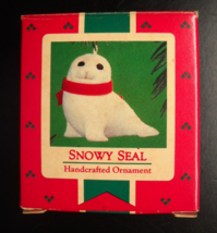 Hallmark Keepsake Christmas Ornament 1984 Snowy Seal with Red Ribbon Boxed - $12.99