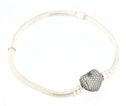 Pandora pave heart Women's .925 Silver Bracelet - $69.00