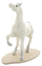 Hagen-Renaker Miniature Ceramic Horse Figurine Wild Arabian on Base White image 6