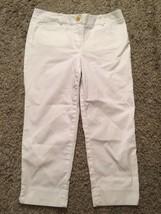 "Talbots Petites Women's ""The Perfect Crop"" Capri White Pants, Size 4P - $20.99"