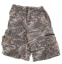 GAP Kids Cargo Pocket Boys Tropical Green Khaki Camouflage Camo Shorts 7 8 - $3.95