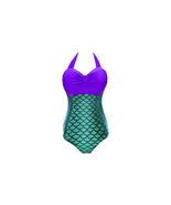 Women's Plus Size Retro One Piece Mermaid Fish Swimwear - $19.99