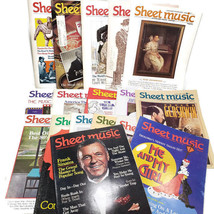 Sheet Music Magazine Lot 17 Piano Guitar Back Issues Vtg Xmas Sinatra Mu... - $29.94