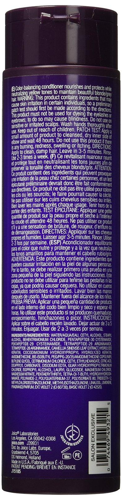 Joico Color Balance Purple Conditioner, 10.1 Oz