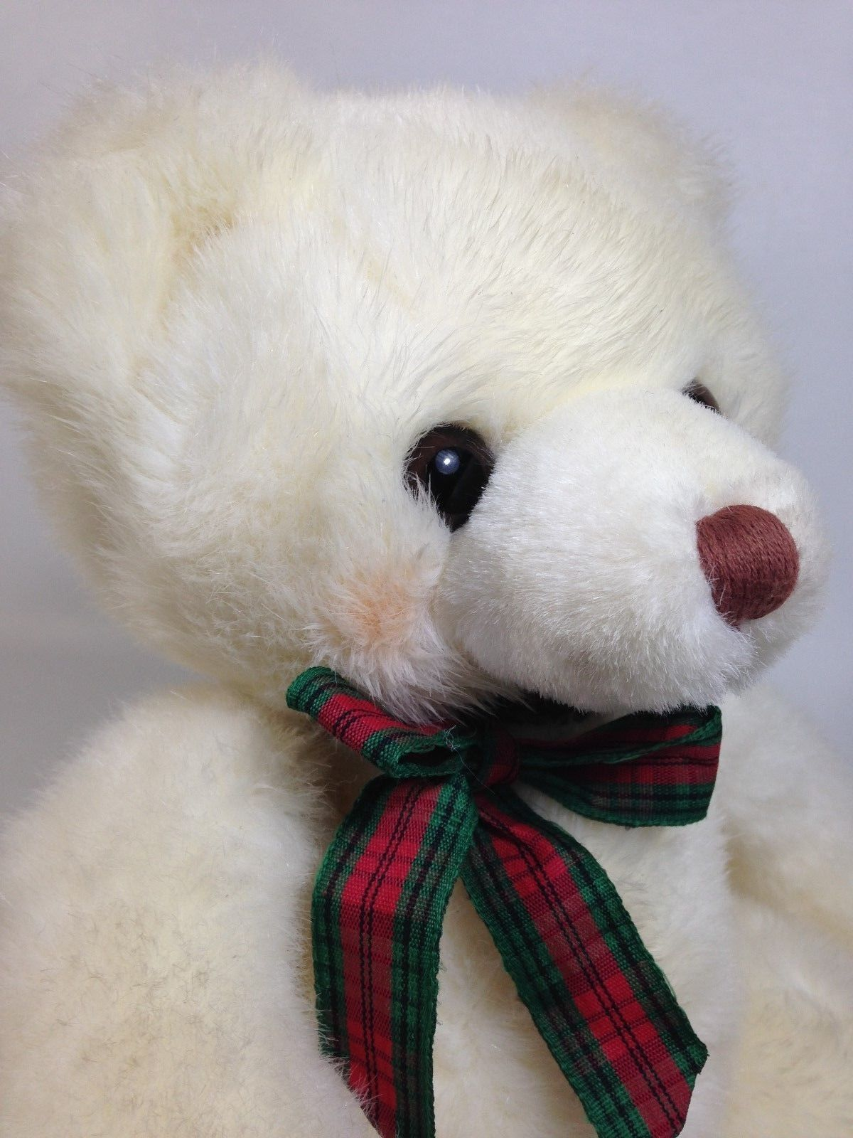 Primary image for Russ SNOWTOP Teddy Bear Plush Rosey Cheeks Korean K-02 White Stuffed Animal 9""