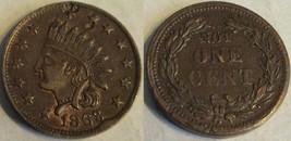 1863 Civil War Token- Indian Head/ Not One Cent - $60.76