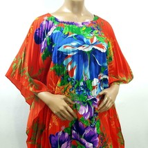 Vtg Women's GREENCASTLE Floral Luau Accordion Kaftan Dress - One Size Fi... - $96.64