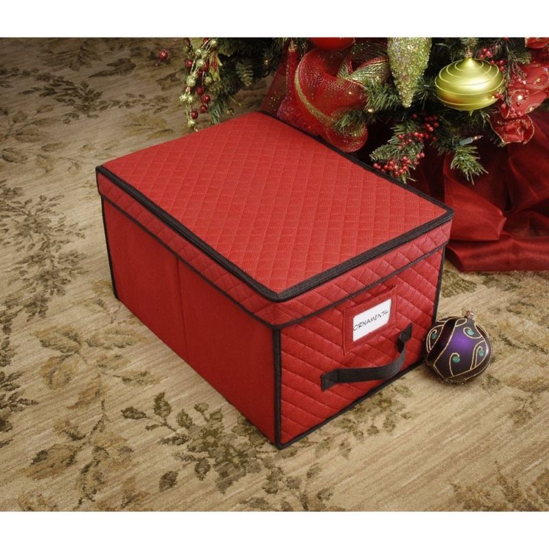 Christmas ornament storage box holiday protection bulb for Xmas decoration storage boxes
