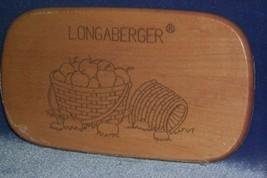 Longaberger Tour Basket Lid  with Basket of Apples Decor Warm Brown  New - $15.63