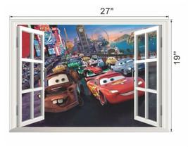 Disney Cartoon 3D Cars McQueen Wall Stickers De... - $21.48