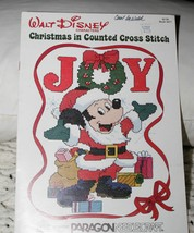 Walt Disney Characters Christmas in Counted Cross Stitch booklet - 11 pa... - $10.64