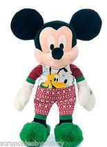 Disney Store Mickey Mouse Holiday Pajamas Plush Toy Pluto 17'' 2015 New - $59.95