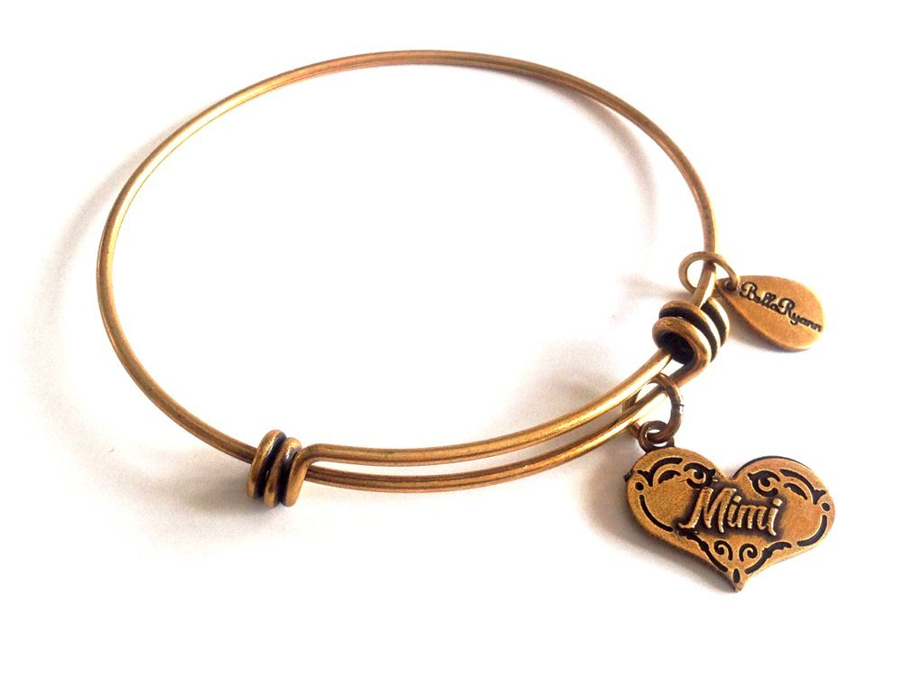 Bella Ryann Mimi Heart New Gold Charm Bangle Bracelet