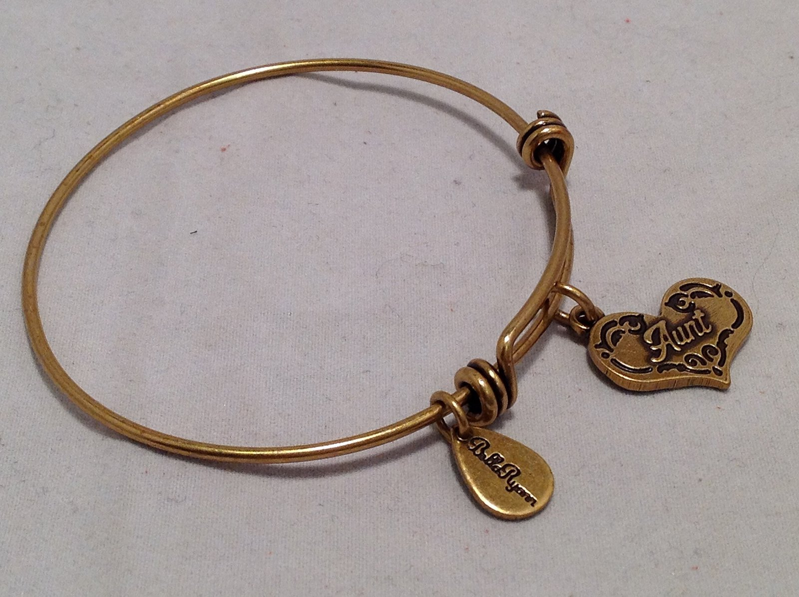 Bella Ryann Gold Aunt Charm Bangle Bracelet