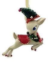 "Department 56 Reindeer Tales Prancer Ornament - 4"" x 4"""