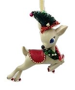 "Department 56 Reindeer Tales Prancer Ornament - 4"" x 4"" - $9.75"