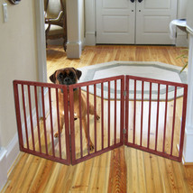 Pet Gate Free Standing  Blocks Doorway Hallway Baby Large Small Dogs Fol... - $39.35