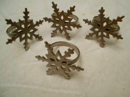 """Snowflake Metal Napkin Holders Set of four. 2 1/4"""" - $11.33"""