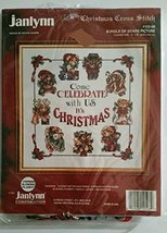 Vintage 1994 Janlynn Christmas Cross Stitch Kit Bundle of Bears Design b... - $14.83