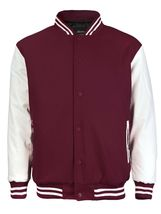 New Men's Premium Classic Snap Button Vintage Baseball Letterman Varsity Jacket image 11