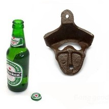 Antique Iron Wall Mounted Bar Beer Bottle Opener Kitchen Gadgets - $8.81