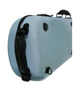 TONARELI Fiberglass Violin 4/4 OBLONG Hard Case BLUE Graphite w straps &... - $265.00