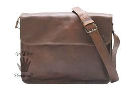 Messenger bag for women leather men's genuine shoulder laptop men satchel bags - $54.93