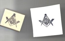 Mason logo Masonic Rubber Stamp medium with rays - $13.85