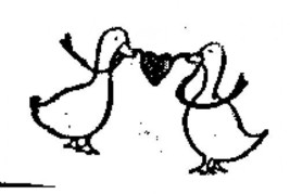 2 Geese holding a heart Rubber Stamp  made in america free shipping ab - $13.63